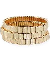 Neiman Marcus - Watch Out Stretch Bracelet Golden - Lyst