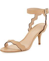 Loeffler Randall | Reina Wavy-strap Leather Sandal | Lyst