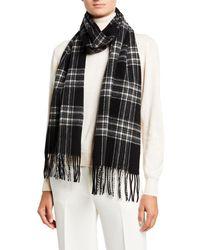 Tom Ford Plaid Wool Scarf - Black
