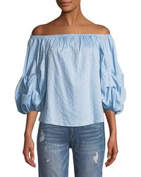 912488cb4028fa Cece by Cynthia Steffe - Off-the-shoulder Balloon-sleeve Blouse - Lyst