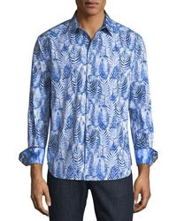 Robert Graham - Ewing Classic-fit Palm-leaf Print Sport Shirt - Lyst