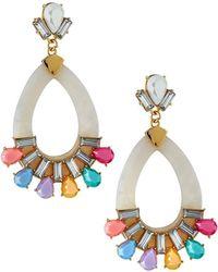 Fragments - Teardrop & Stone Earrings - Lyst