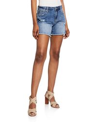 Joe's Jeans The Cut Off Frayed Distressed Shorts - Blue