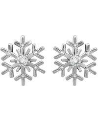 Chopard 18k White Gold Diamond Snowflake Earrings - Metallic