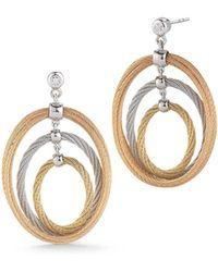Alor - Multi-hoop Drop Earrings W/ Diamonds - Lyst