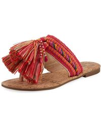 Circus by Sam Edelman | Bella Embroidered Flat Sandal | Lyst