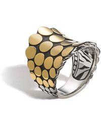 John Hardy - Dot Silver & 18k Gold Saddle Ring Size 7 - Lyst