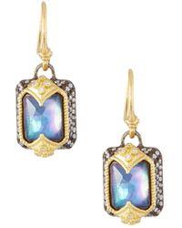 Armenta - Old World Emerald-cut Drop Earrings - Lyst