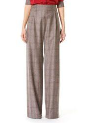 Carolina Herrera - Plaid High-rise Wide-leg Pants - Lyst