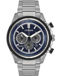 Citizen - 46mm Men's Chronograph Bracelet Watch - Lyst