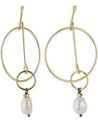 Nakamol Mother-of-pearl & Double-hoop Earrings - White