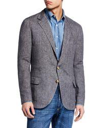 Brunello Cucinelli - Traditional Linen Deconstructed Jacket - Lyst