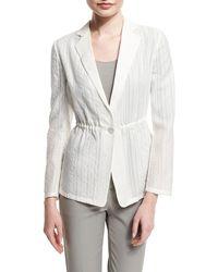 Armani | One-button Cinch-waist Burnout Jacket | Lyst