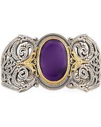 Konstantino - Erato Filigree Cuff Bracelet W/ Amethyst Doublet - Lyst