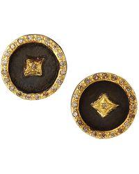 Armenta Old World Crivelli Star Disc Earrings - Black