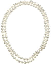 Majorica - Single-row Endless Pearl Necklace White - Lyst