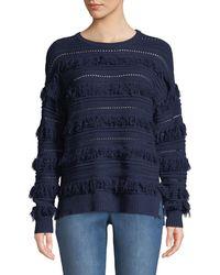 MICHAEL Michael Kors - Long-sleeve Novelty Fringe Sweater - Lyst