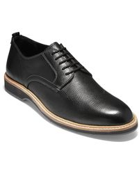 Cole Haan Men's Morris Pebbled Leather Oxfords - Black