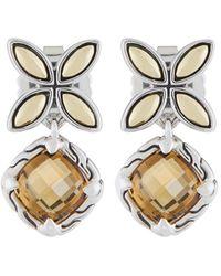 John Hardy - Kawung Cognac Quartz Drop Earrings - Lyst