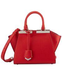 Fendi - 3jours Mini Leather Tote Bag - Lyst