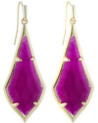 Kendra Scott Olivia Drop Earrings Purple Jade