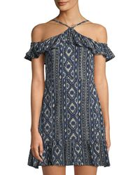 Lost + Wander - Cancun Ruffle-sleeve Halter Dress - Lyst