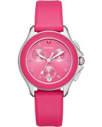 Michele - 36mm Cape Topaz Chrono Watch With Silicone Strap - Lyst