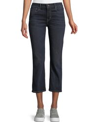 Vince - Mid-rise Cropped Flare-leg Jeans - Lyst