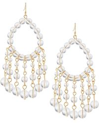 Lydell NYC - Beaded Crystal Drop Earrings - Lyst