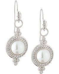 Jude Frances - 18k Provence Pearl Drop Earrings - Lyst