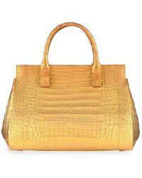 Nancy Gonzalez Daisy Medium Crocodile Bag - Multicolour