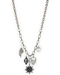 Lulu Frost Hematite Charm Necklace - Grey