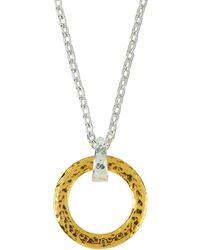Gurhan - Small Tapered Hoop Pendant Necklace - Lyst