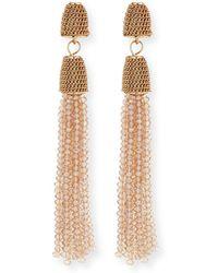 Lydell NYC - Chain & Bead Tassel Drop Earrings - Lyst
