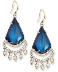Alexis Bittar | Crystal Lace Chandelier Earrings | Lyst