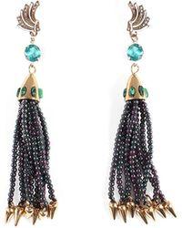 Lulu Frost Swift Nomadic Tassel Drop Earrings - Multicolor