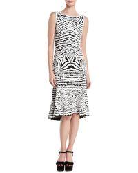 0427c75c5f Naeem Khan - High-neck Sleeveless Beaded-stretch Wool Midi Dress - Lyst
