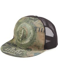 Givenchy Dollar-print Flat-billed Hat Olive - Green