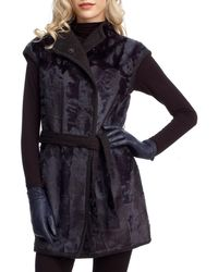 Gorski - Reversible Goat Fur And Cashmere Wrap Vest - Lyst