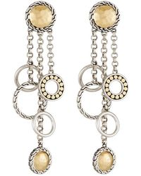 John Hardy Palu Bulan Chandelier Earrings - Metallic