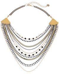Nakamol Layered Multi-chain Necklace Black
