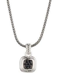 John Hardy - Bedeg Black Sapphire Cushion Pendant Necklace - Lyst