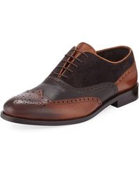 Jared Lang - Men's Wing-tip Leather Dress Shoes - Lyst