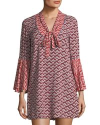 Likely | Lawrence Floral Folk Dress | Lyst