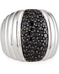 John Hardy - Bedeg Lava Dome Black Sapphire Ring Size 7 - Lyst