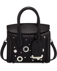 Alexander McQueen Heroine 21 Mini Leather Satchel Bag with Hardware Detail yb4pH