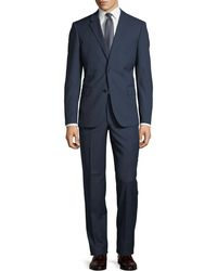 Neiman Marcus - Two-button Textured Two-piece Suit - Lyst