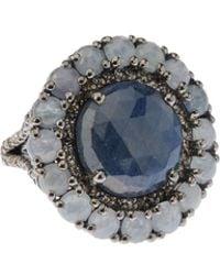 Bavna - Silver Ring With Blue Sapphire & Diamonds - Lyst