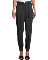Laundry by Shelli Segal - Belted High-waist Jogger Pants - Lyst