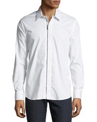 Karl Lagerfeld - Men's Zippered Woven Sport Shirt - Lyst